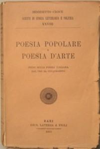 Poesia popolare, poesia d'arte