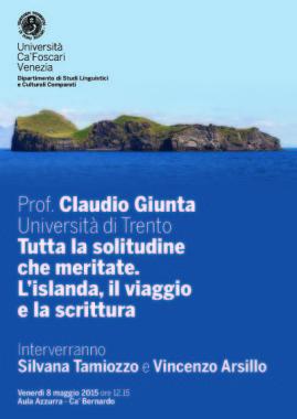 Venerdì 8 a mezzogiorno a Venezia si parla di Islanda