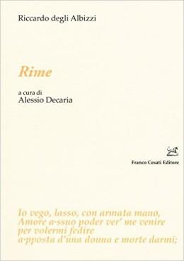"""Sulle """"Rime"""" di Riccardo degli Albizzi"""