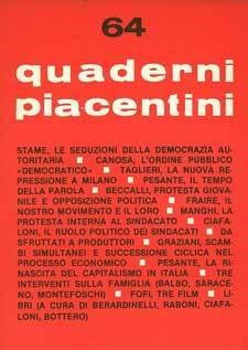 """Sui """"Quaderni piacentini"""""""