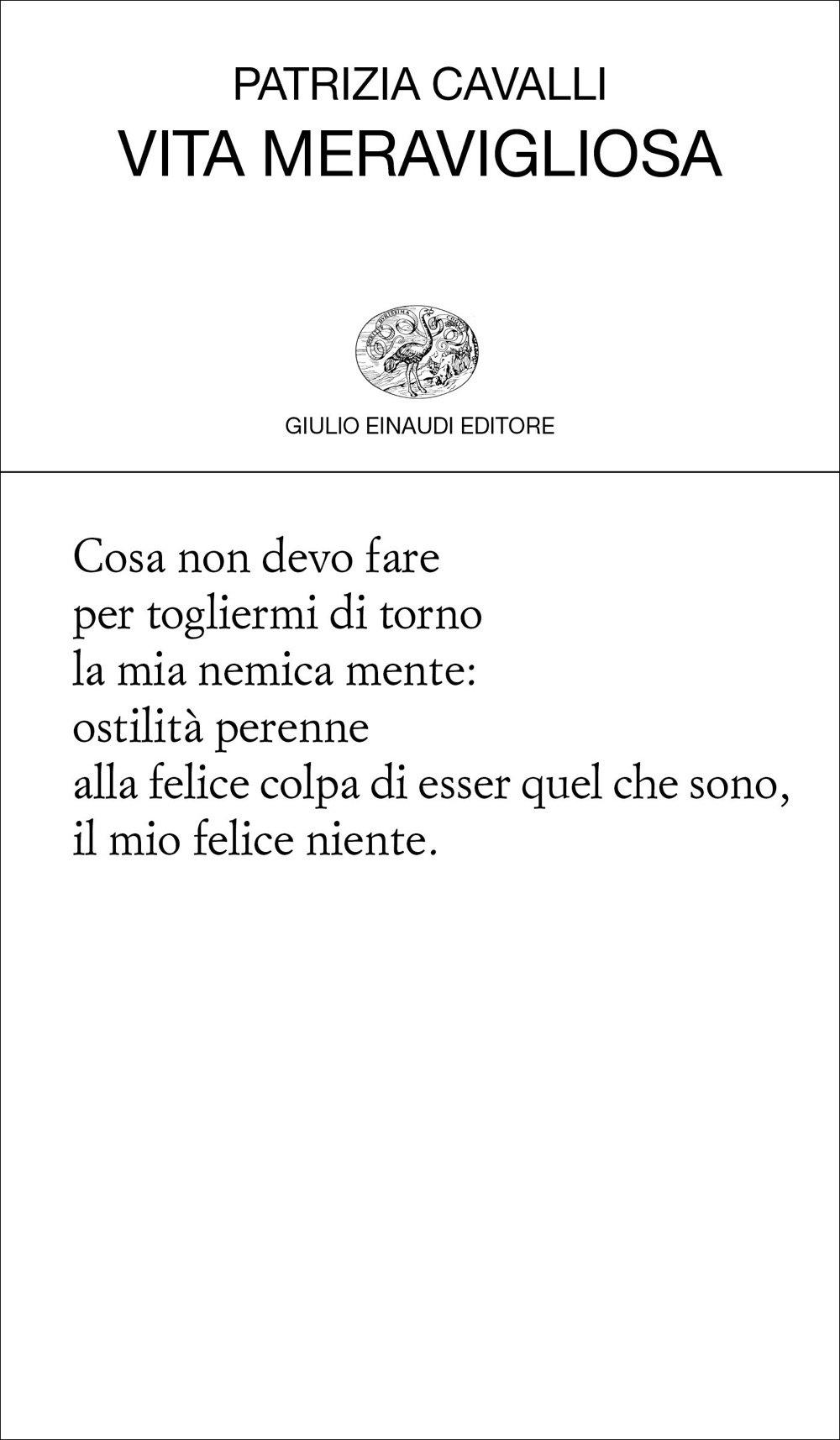 """Gianluigi Simonetti su """"Vita meravigliosa"""" di Patrizia Cavalli"""